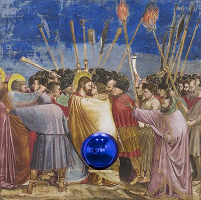 Gazing Ball (Giotto The Kiss of Judas)