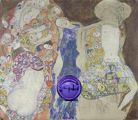 Gazing Ball (Klimt Bride)