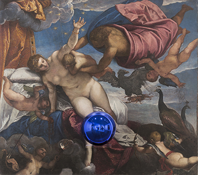 Gazing Ball (Tintoretto The Origin of the Milky Way)