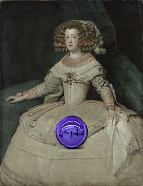 Gazing Ball (Velázquez Infanta Maria Teresa)