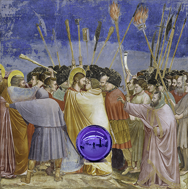 Gazing Ball (Giotto The Kiss of Judas)