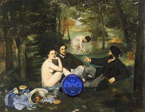 Gazing Ball (Manet Luncheon on the Grass)