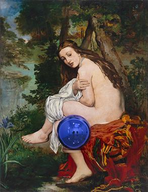 Gazing Ball (Manet Surprised Nymph)