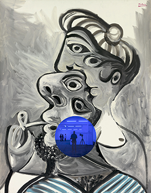 Gazing Ball (Picasso Couple)