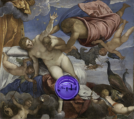 Gazing Ball (Tintoretto The Origin of the Milky Way)