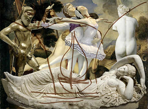 Antiquity (Ariadne Titian Venus and Adonis Satyr)