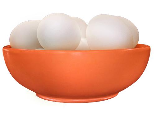Bowl with Eggs (Orange)