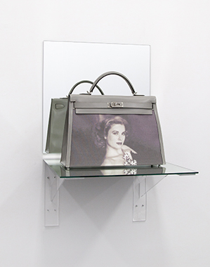 Kelly Bag Gray (Shelf) - Bag donated by HRH Princess Caroline of Hanover