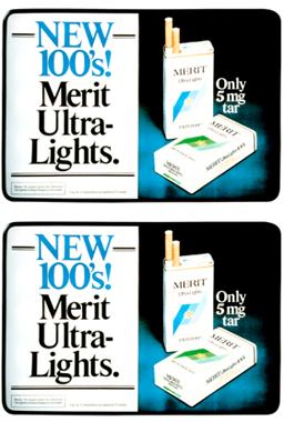 New 100's Merit Ultralights