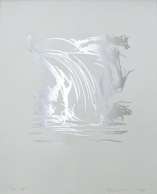Untitled (Waterfall Drawing)