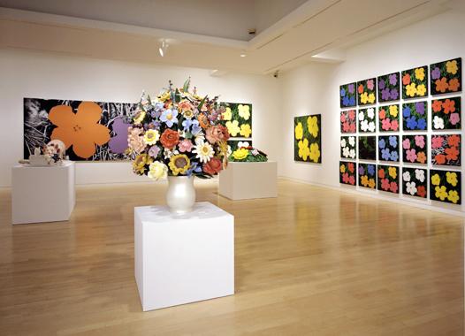 Jeff Koons / Andy Warhol: Flowers, Gagosian Gallery, New York, 2002.