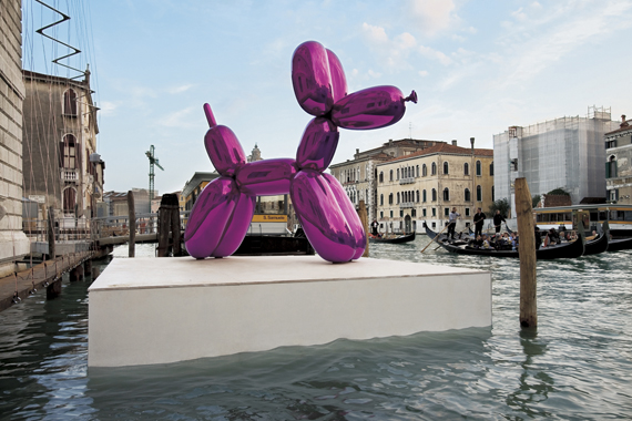 Balloon Dog (Magenta) by Jeff Koons. Where Are We Going: Selections from the François Pinault Collection, Palazzo Grassi, 2006.