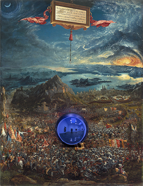 Gazing Ball (Altdorfer The Battle of Alexander at Issus)