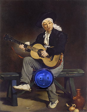 Gazing Ball (Manet Spanish Singer)