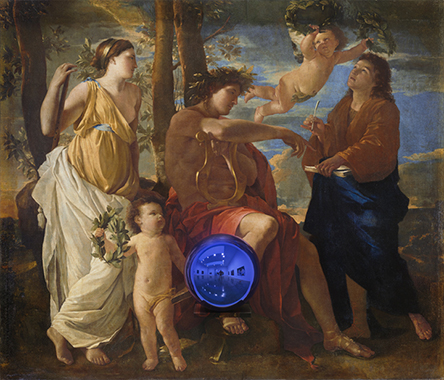 Gazing Ball (Poussin Inspiration of the Poet)
