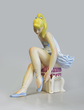 Seated Ballerina (Wood)