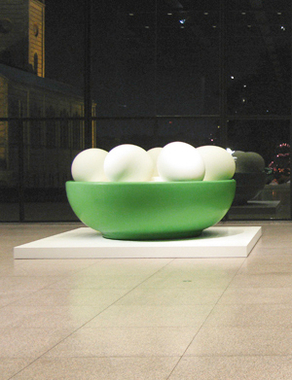 Bowl with Eggs (Green)