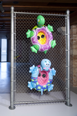 Chainlink by Jeff Koons. In Praise of Doubt, Punta della Dogana, 2011-2012.