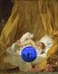 Gazing Ball (Fragonard Girl with Dog)