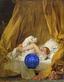 Gazing Ball (Fragonard Young Girl Playing with her Dog)