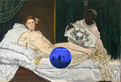 Gazing Ball (Manet Olympia)
