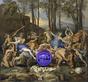 Gazing Ball (Poussin The Triumph of Pan)