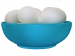 Bowl with Eggs (Blue)