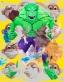 Hulk Elvis Monkey Train Swish (Yellow)