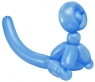 Balloon Monkey Wall Relief (Blue)
