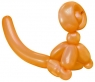 Balloon Monkey Wall Relief (Orange)