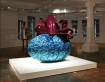 Baroque Egg with Bow (Turquoise/Magenta) by Jeff Koons. For What You Are About to Receive, Gagosian Gallery, Moscow, 2008.